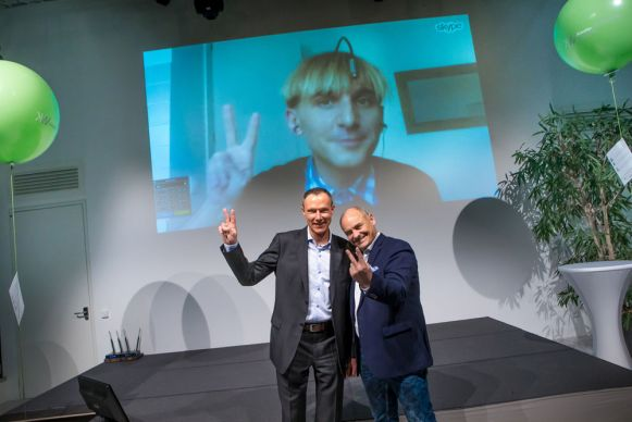 Neil Harbisson, Dr. Clemens Grießenberger, Dkfm. Günther Hofer
