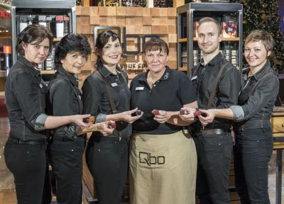 Das Qbo-Team in der Paschinger Plus City