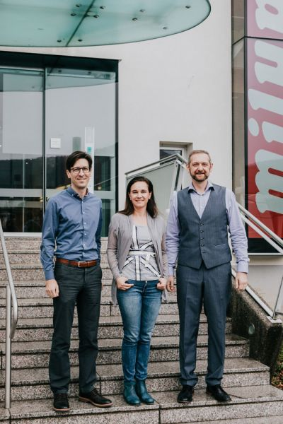 Das Milupa-Managementteam (v.l.n.r.): Ingo Wuppinger, Sales Director, Anna Zatorska, Head of Marketi
