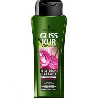 Gliss Kur Bio-Tech Restore Kräftigungs-Shampoo, 250 ml