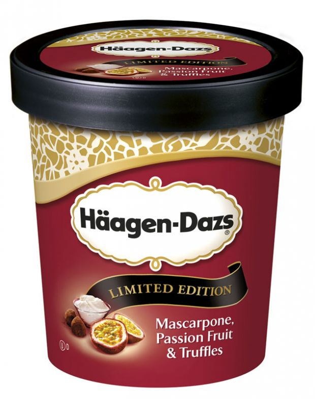 Die neue Limited Edition Mascarpone Passion Fruit & Truffles  © Häagen-Dazs
