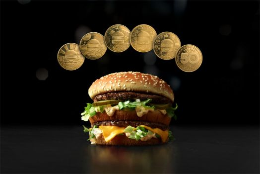 6 MacCoins, 1 Big Mac © McDonald's