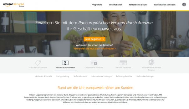 Screenshot: services.amazon.de/programme/versand-durch-amazon/pan-europa.html