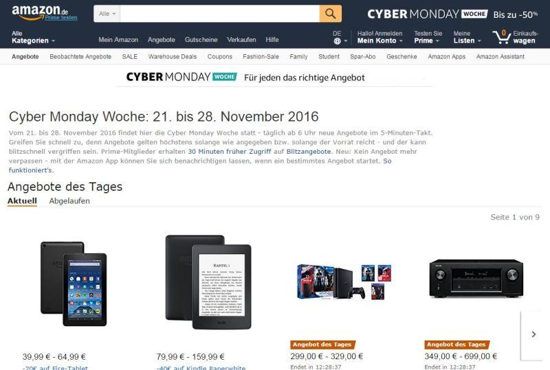 Parfüm Angebote Amazon Cyber Monday Woche