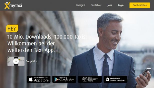 Screenshot de.mytaxi.com