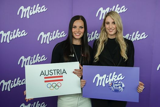 Anna Veith und Anna Gasser © Mondelēz International Inc.