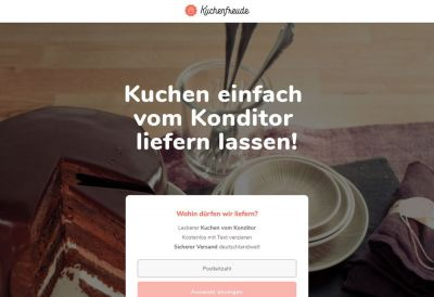 Screenshot www.kuchenfreude.de