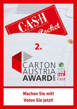 CASH Pocket 2. Carton Austria Award