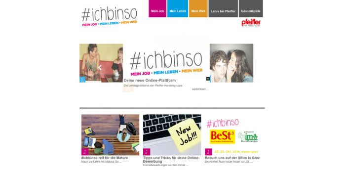 Screenshot: www.ichbinso.at