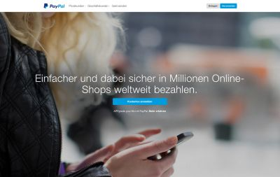 Screenshot: www.paypal.at